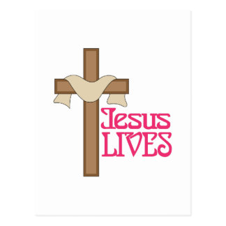 Jesus Lives Postcard