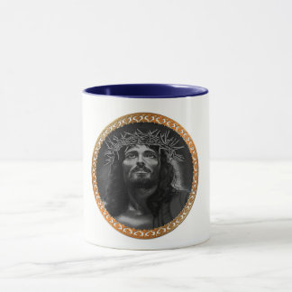 Jesus looking in the heavens mug