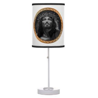 Jesus looking in the heavens table lamp