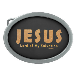 Jesus, Lord of My Salvation (Christian Faith) Belt Buckle