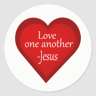 Jesus Love One Another Heart Affirmative Sticker