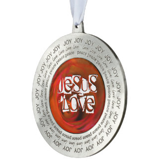 JESUS 'love Pewter Ornament