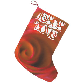 JESUS 'love Small Christmas Stocking