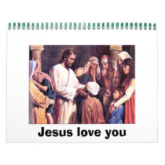 Jesus love you wall calendar