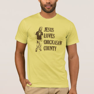 Jesus Loves Chickasaw County T-Shirt