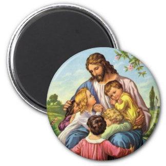 Jesus Loves Children Magnet