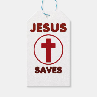 Jesus loves, Christ Christianity Religion Cross.pn Gift Tags