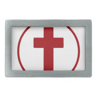 Jesus loves, Christ Christianity Religion Cross.pn Rectangular Belt Buckle