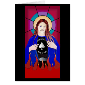 JESUS LOVES LEMMY CARD