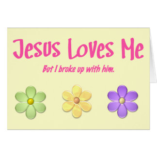 Jesus Loves Me Card