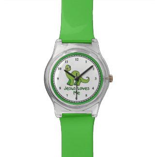 Jesus Loves Me Dinosaur Wristwatches