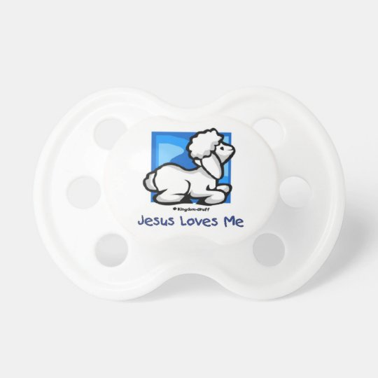 Jesus Loves Me Lamb Pacifier