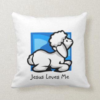 Jesus Loves Me Little Lamb Pillow