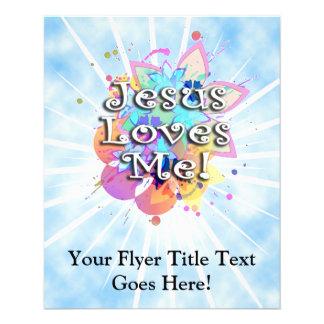 Jesus Loves Me, Pastel Watercolor Flyer Design