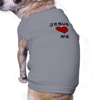 Jesus Loves Me Pet Tshirt