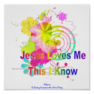 Jesus Loves Me Poster