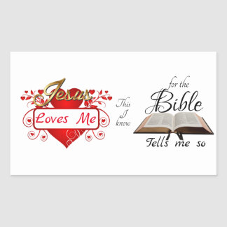 Jesus Loves Me, This I know ... Sticker