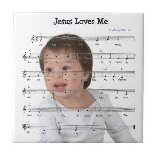 JESUS LOVES ME TILE