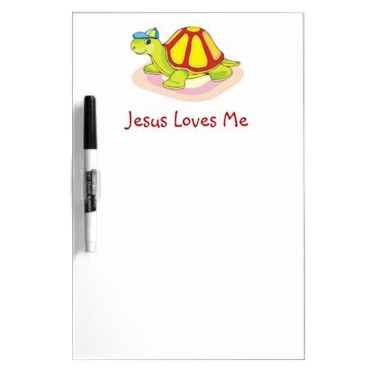 Jesus Loves Me Turtle Board Dry-Erase Whiteboard