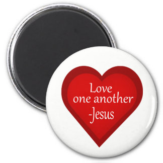 Jesus Loves One Another Heart Affirmative Magnet