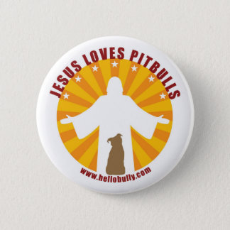 Jesus Loves Pitbulls Pin