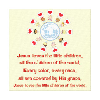 Jesus Loves the Little Children Canvas Print