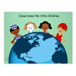 Jesus loves the little children. postcards