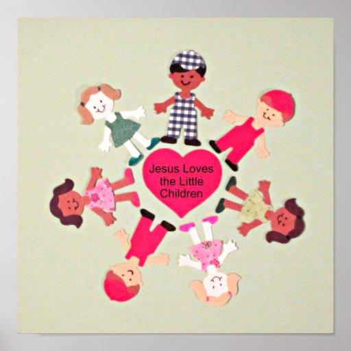 Jesus Loves The Little Children Poster