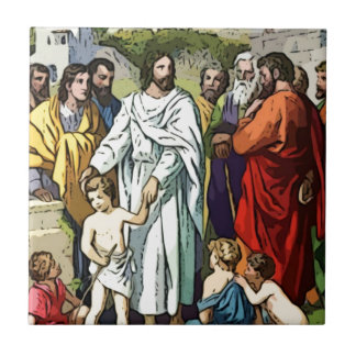 Jesus Loves The Little Children Tile