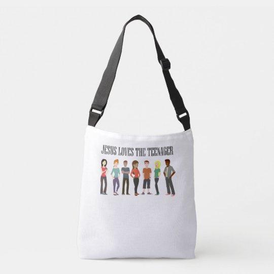 JESUS LOVES THE TEENAGER, TOTE BAG
