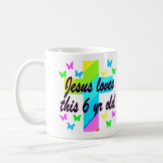 JESUS LOVES THIS 6 YEAR OLD 6TH BIRTHDAY COFFEE MUG
