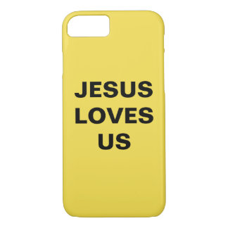 """Jesus Loves Us"" Apple iPhone 8/7 Case"