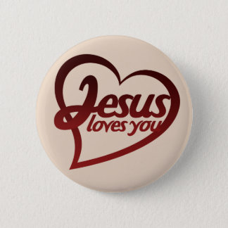 Jesus Loves you 2 Inch Round Button