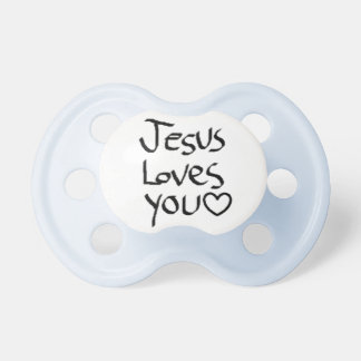 Jesus Loves You Baby Pacifiers
