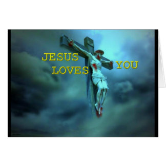 Jesus loves you card