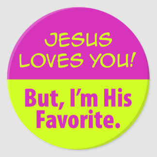 Jesus Loves You! Classic Round Sticker