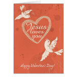 Jesus Loves You Custom Valentine's Day Card
