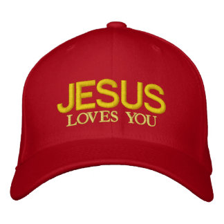JESUS LOVES YOU EMBROIDERED HAT
