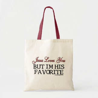 Jesus Loves You Favorite Budget Tote Bag