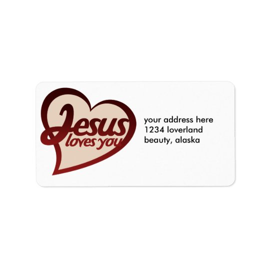 Jesus Loves you Label