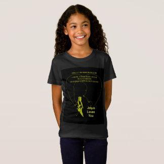 Jesus Loves You - Little Girl Gold T-Shirt