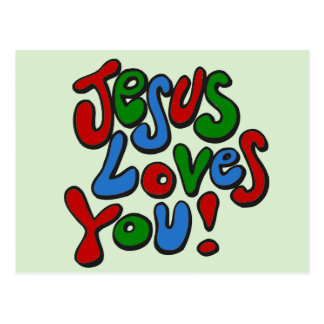 Jesus loves you post cards