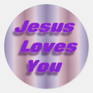 Jesus Loves You Round Sticker
