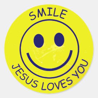 Jesus Loves You spalls Round Sticker