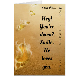 Jesus Loves You Spiritual Greetings Card