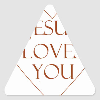 Jesus Loves You Triangle Sticker