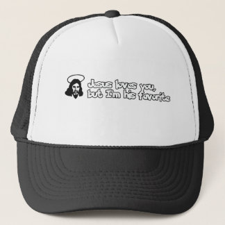 Jesus loves you trucker hat