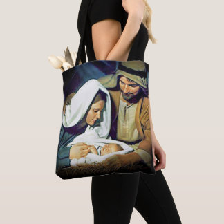Jesus, Mary and Joseph Tote Bag