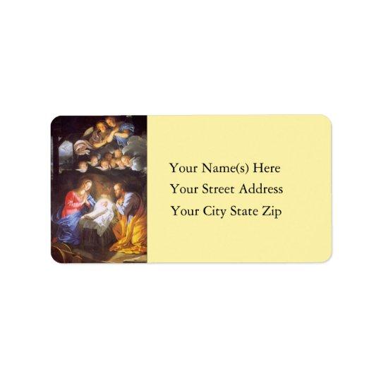 Jesus Mary and Joseph Vintage Address Label