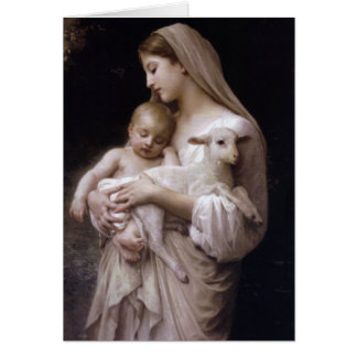 JESUS, MARY AND THE LAMB CARD